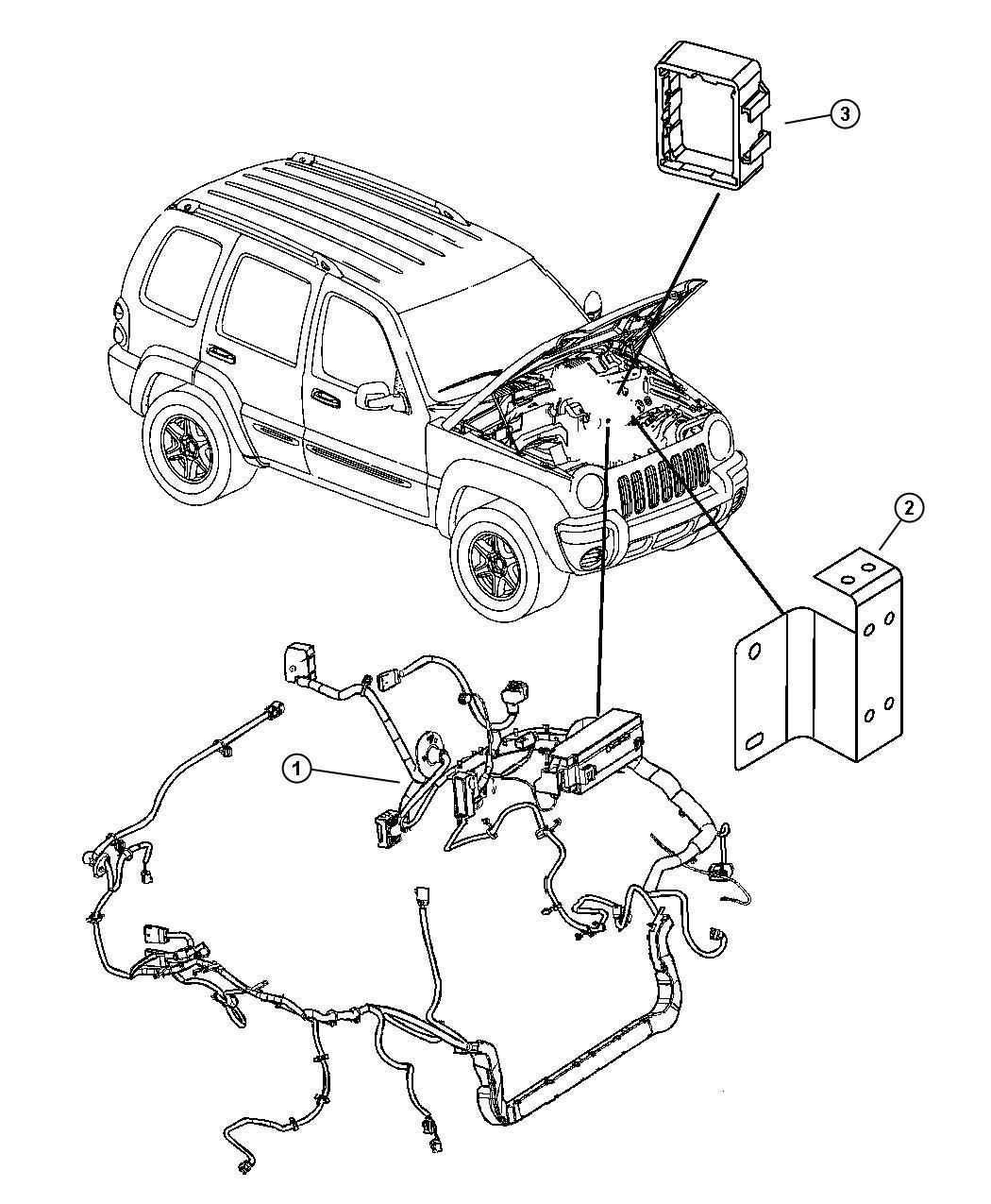 jeep liberty wiring  headlamp to dash   electronic stability program