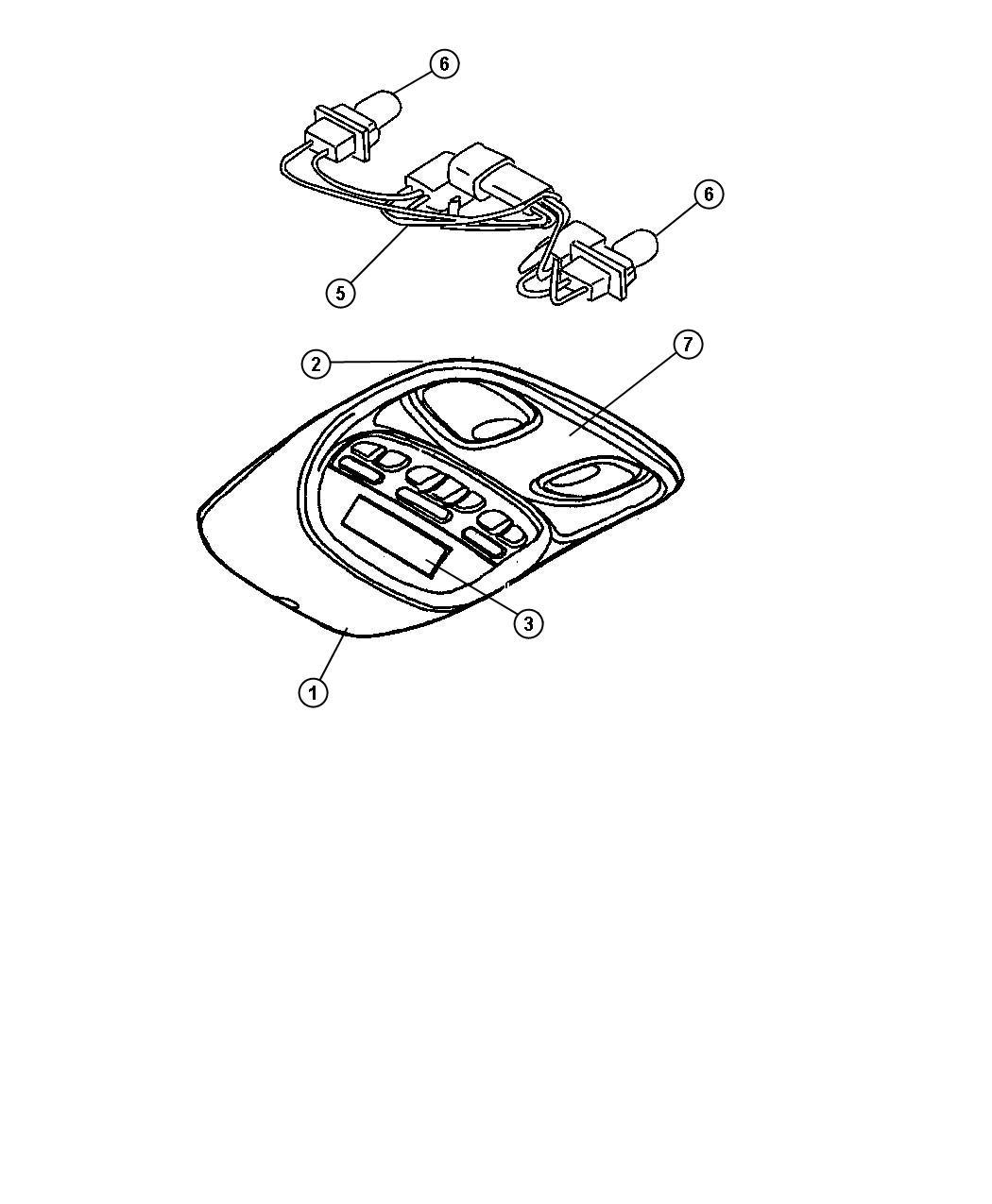 2006 jeep liberty switch  sunroof   mini overhead console   trim   all trim codes  color