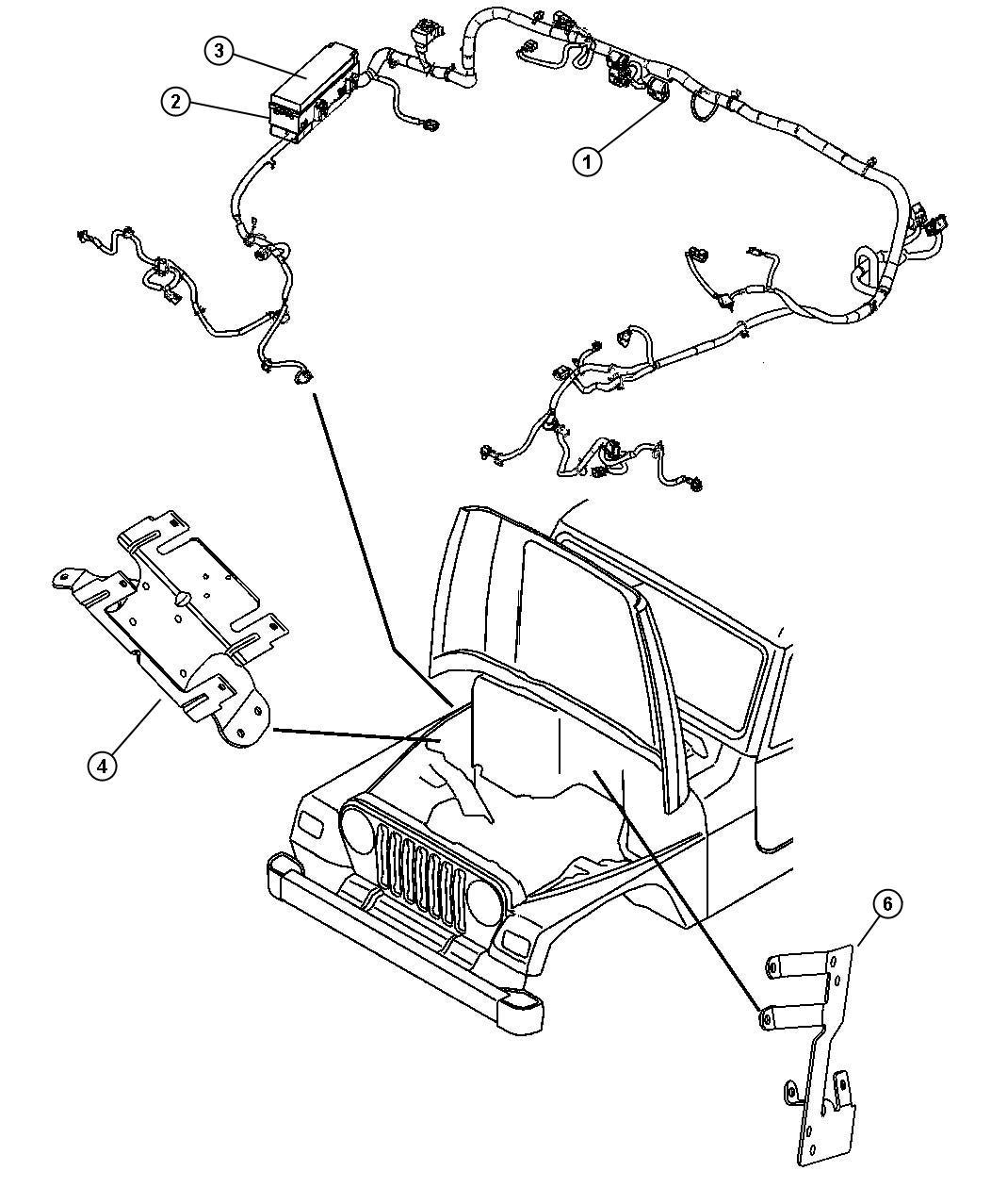 2009 Jeep Commander Bracket  Wiring Harness  Side Cowl