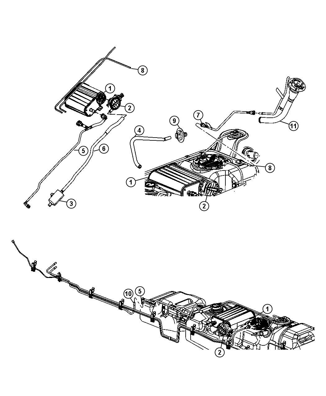 Dodge Dakota Canister. Vapor. Vacuum - 04891775AA | Myrtle ...