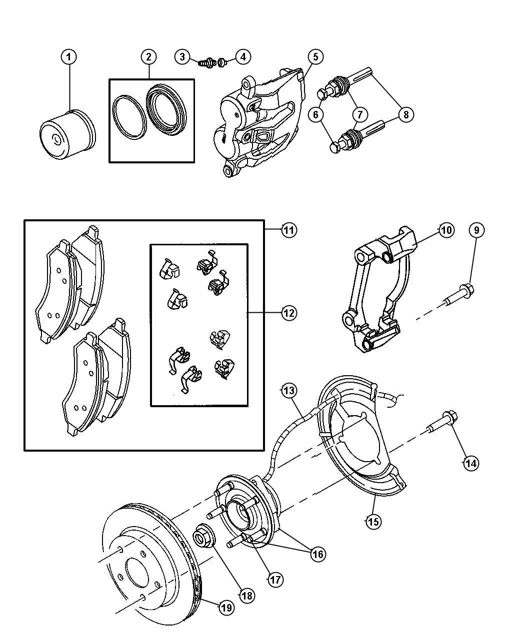 2006 Dodge Dakota Rotor  Brake  Front  Brakes  Mopar