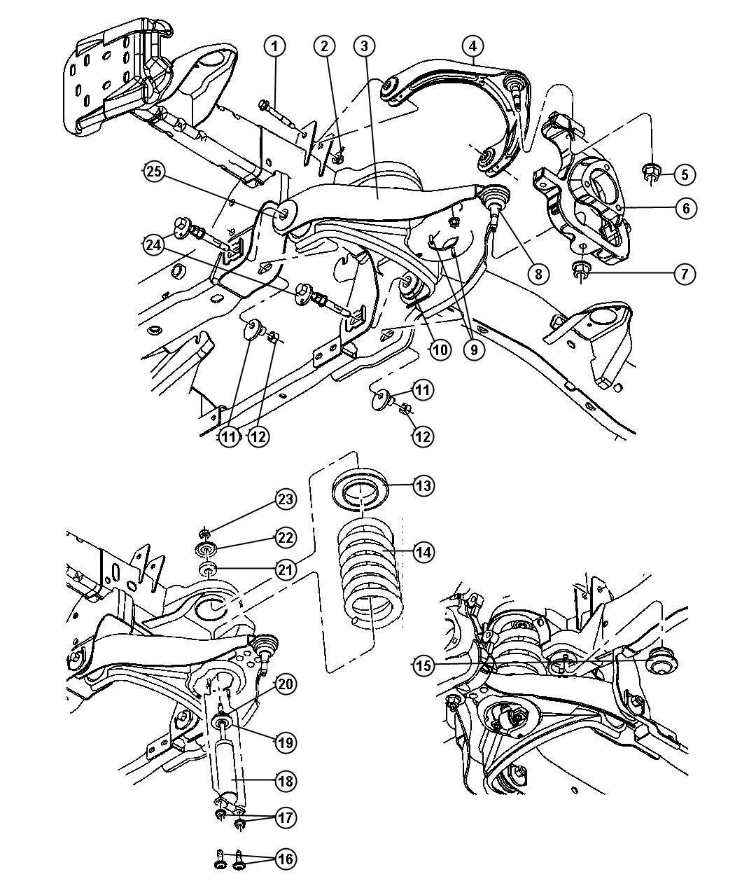 2006 Dodge Ram 1500 Bushing  Control Arm  Rear  Suspension