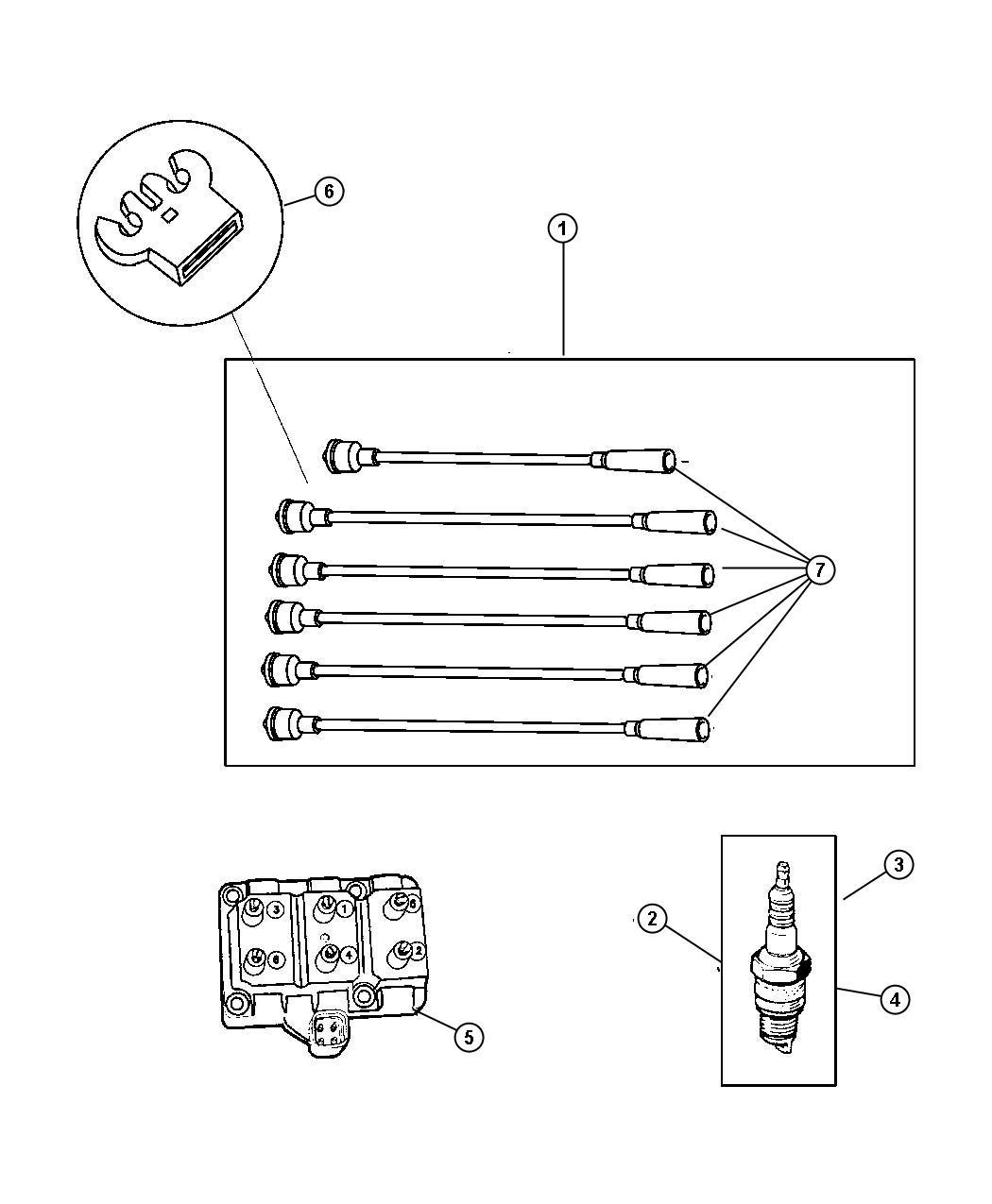 1997 chrysler voyager coil ignition 6 cylinder engine. Black Bedroom Furniture Sets. Home Design Ideas