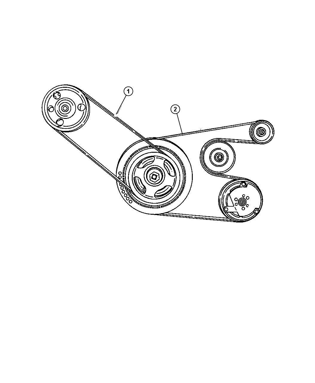 Dodge Stratus Belt  Power Steering  Rack  Pinion  Drive