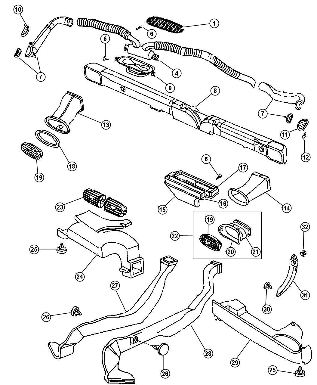 Chrysler Cirrus Reinforcement  Instrument Panel  Cross Car