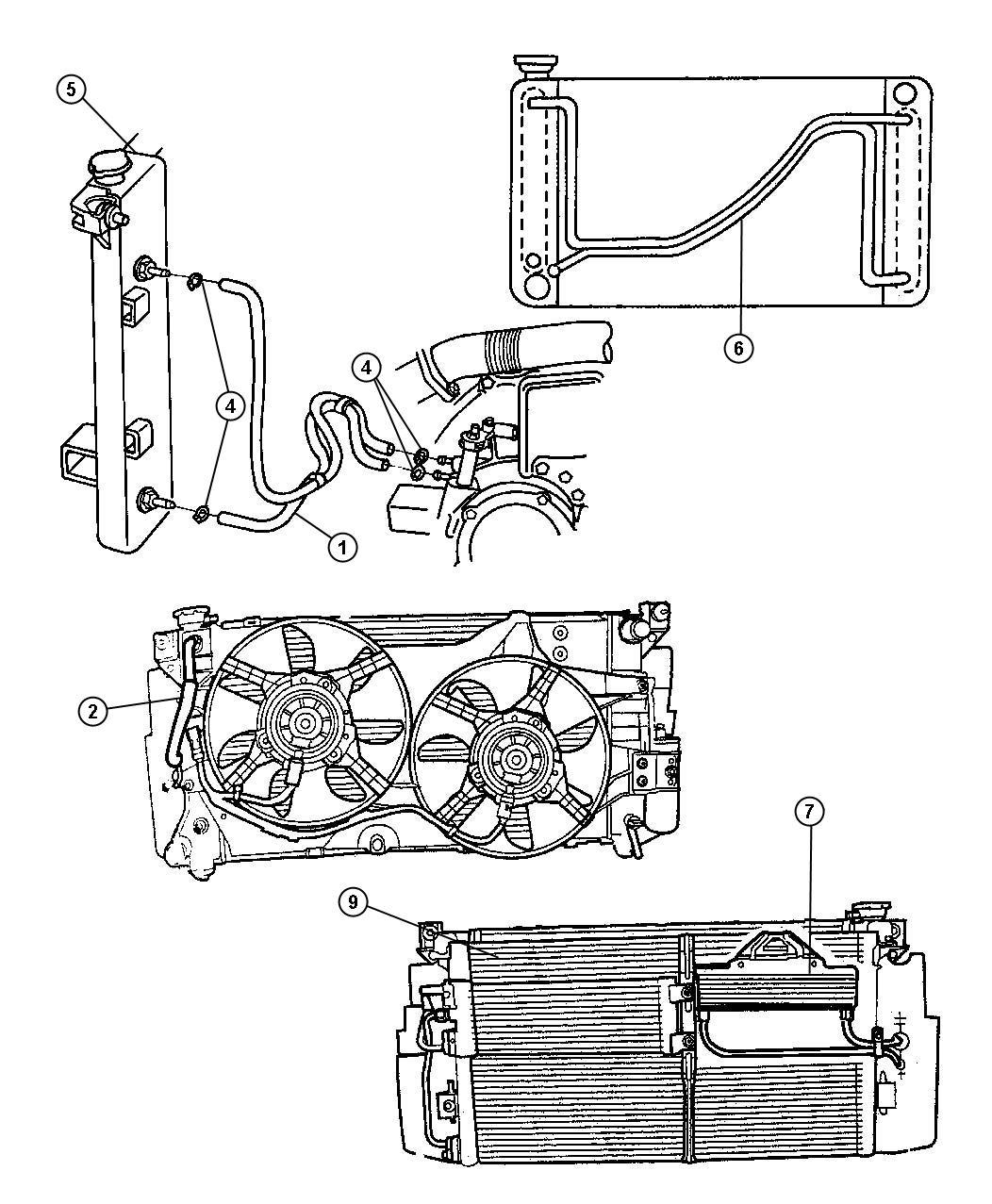 Chrysler Town  U0026 Country Hose  Transmission Oil Cooler