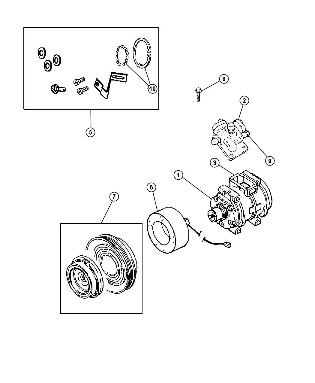 Chrysler Town  U0026 Country Seal  Manifold To Compressor  Air