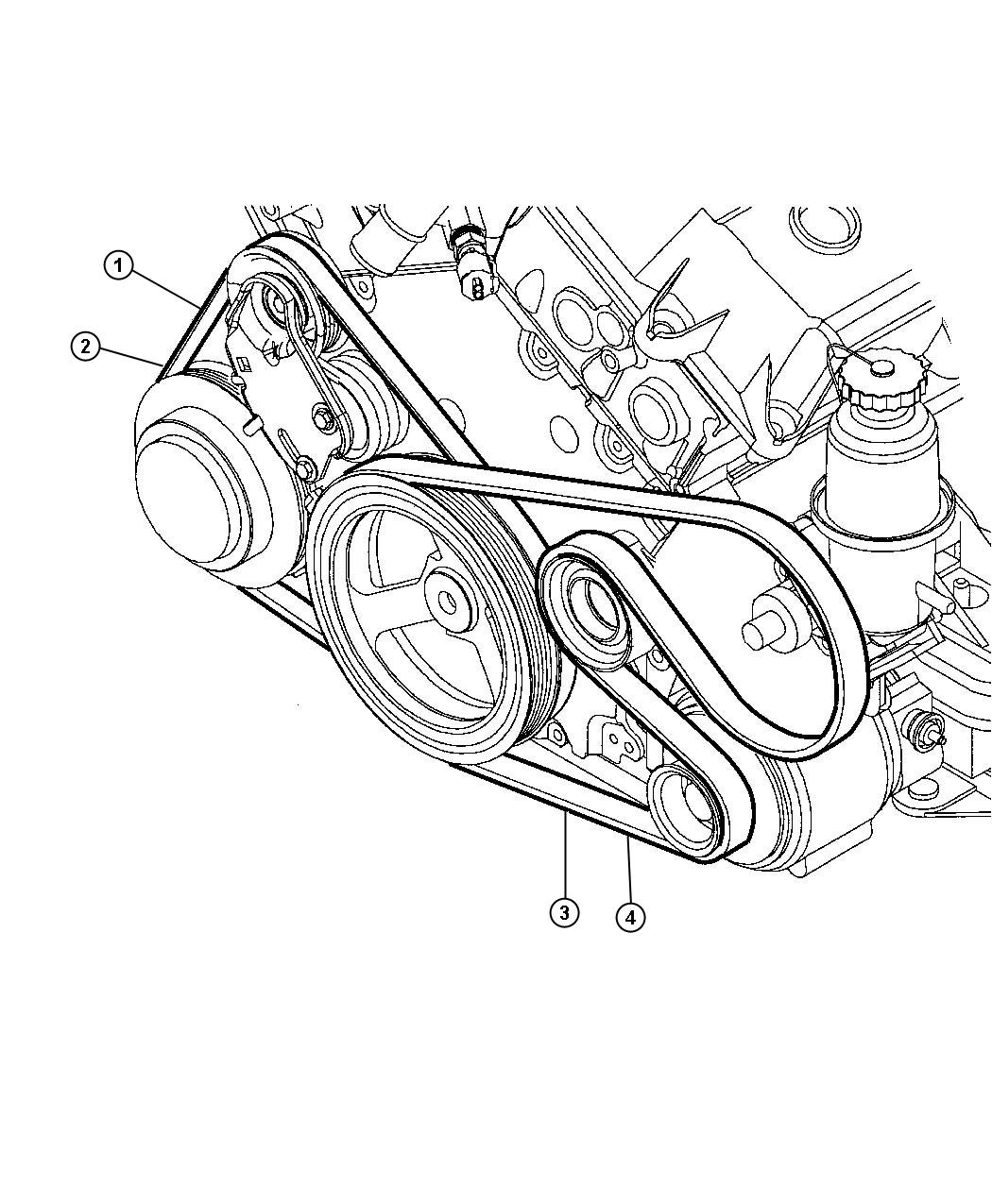 2004 chrysler 300 belt  a  c compressor  a  c compressor