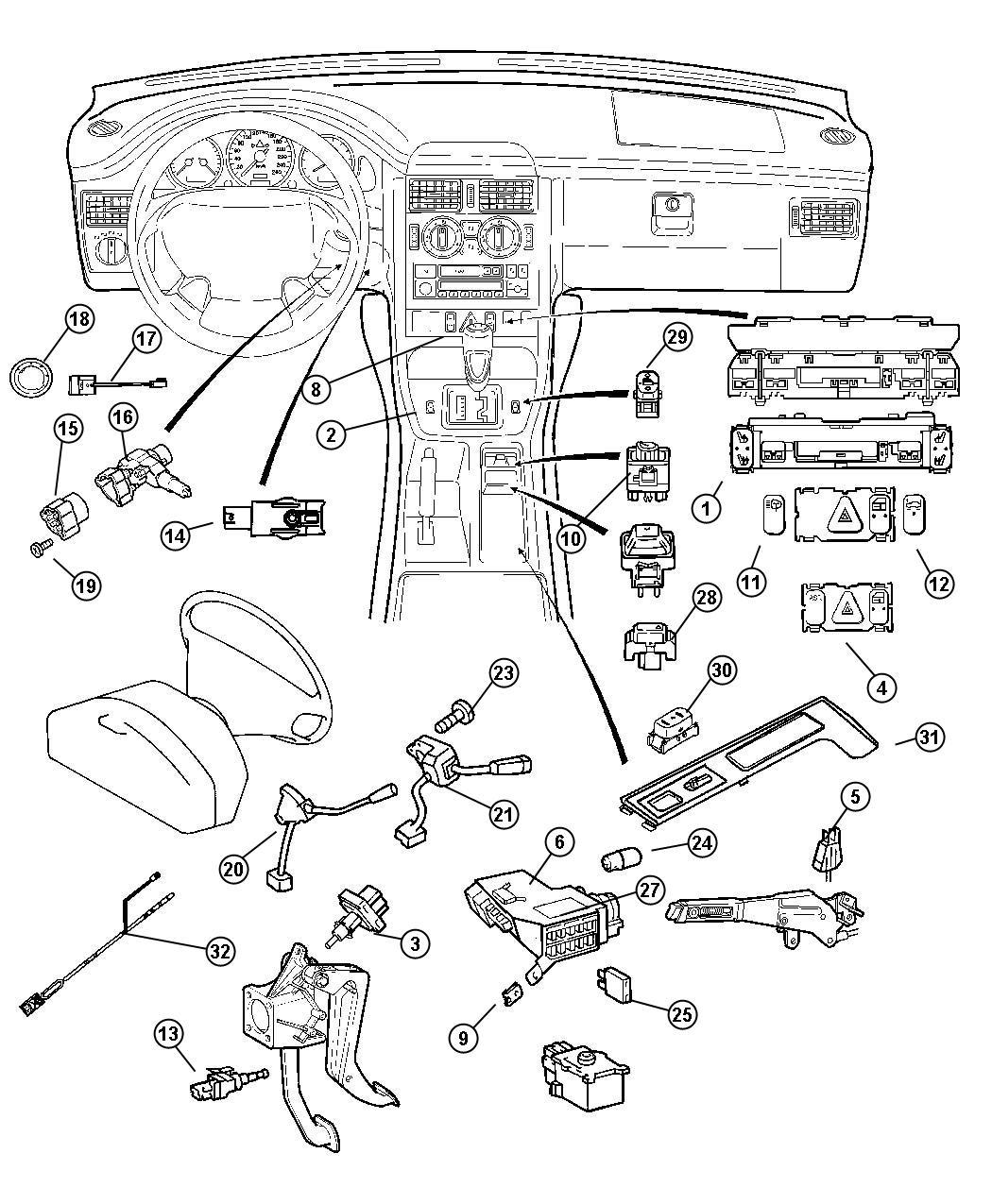 2007 chrysler crossfire switch headlamp lmn yac yad. Black Bedroom Furniture Sets. Home Design Ideas