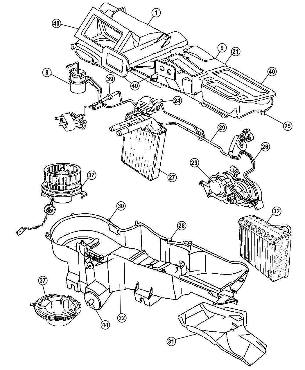2006 Jeep Liberty Evaporator Kit  Air Conditioning