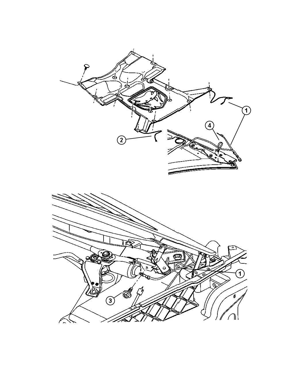 2004 dodge viper strap  right  ground  repair  mopar