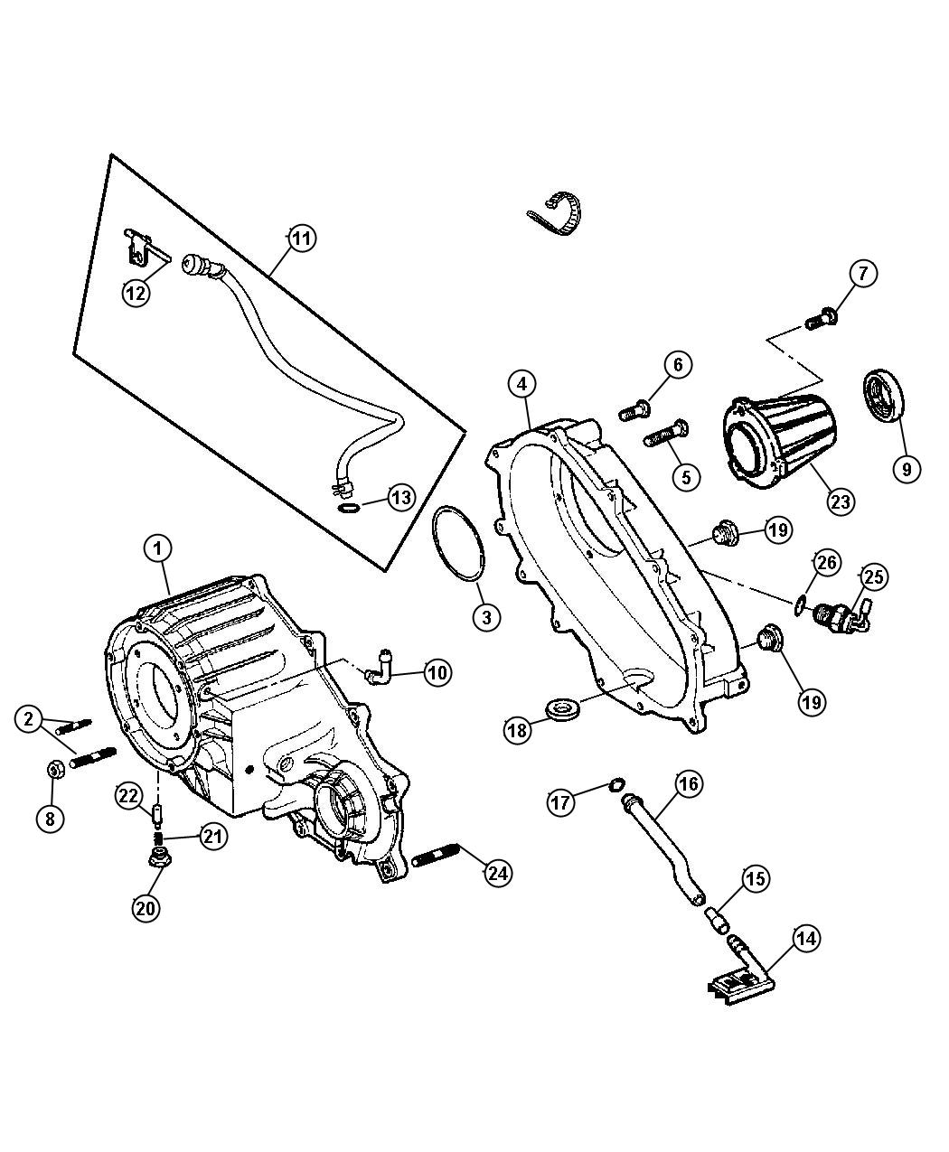 Jeep Liberty Extension  Transfer Case  Dhu