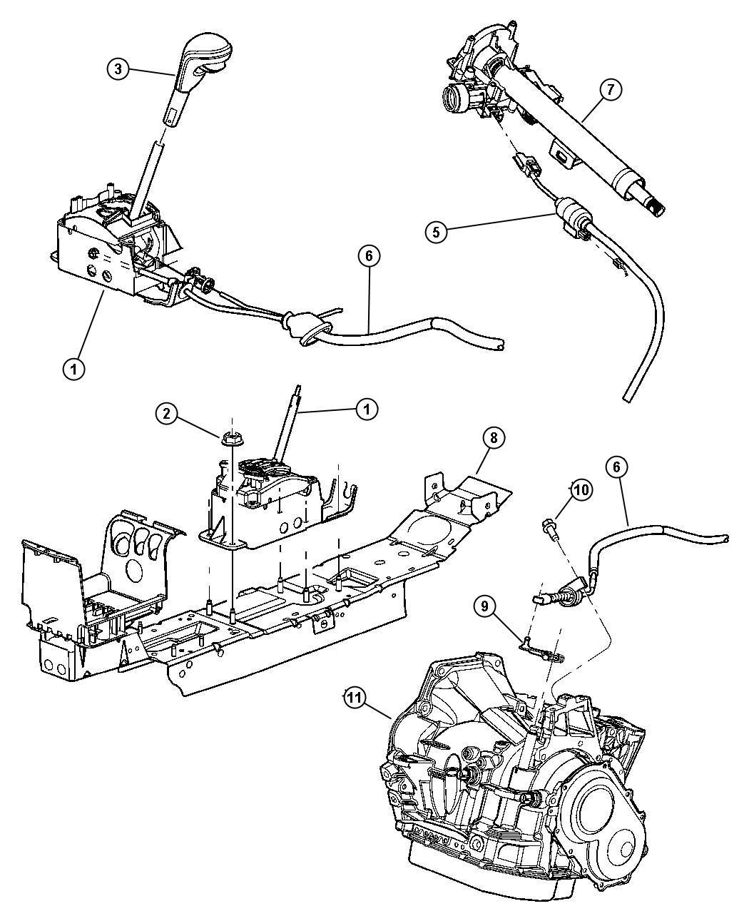 2011 Dodge Avenger Cable  Ignition Interlock  Controls