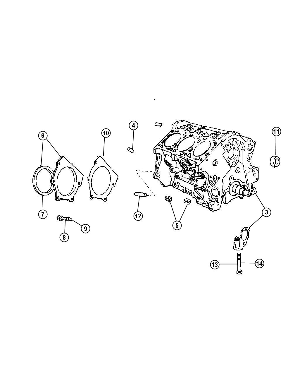 2006 Dodge Grand Caravan Engine  Long Block  Ohv