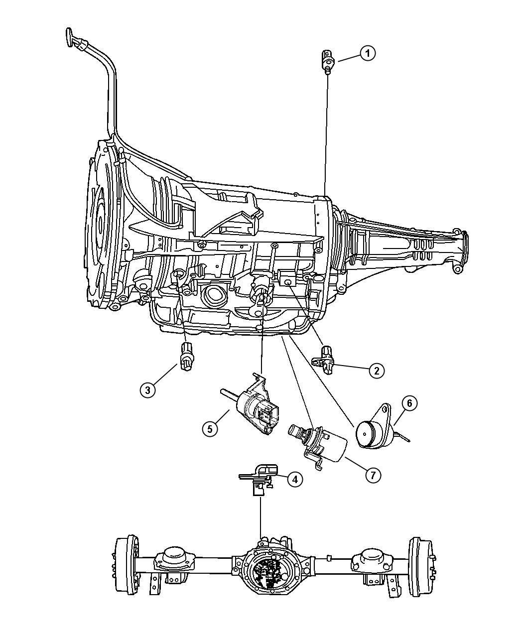 2006 Dodge Ram 1500 Sensor  Speed  In Transfer Case