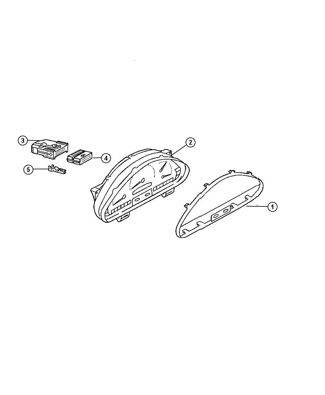 Dodge Sprinter Connector  Wiring  Panel  Mopar  Instrument