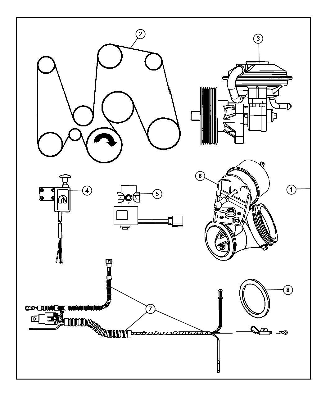 Dodge Ram 1500 Pump. Vacuum - 05102084AA   Myrtle Beach SC