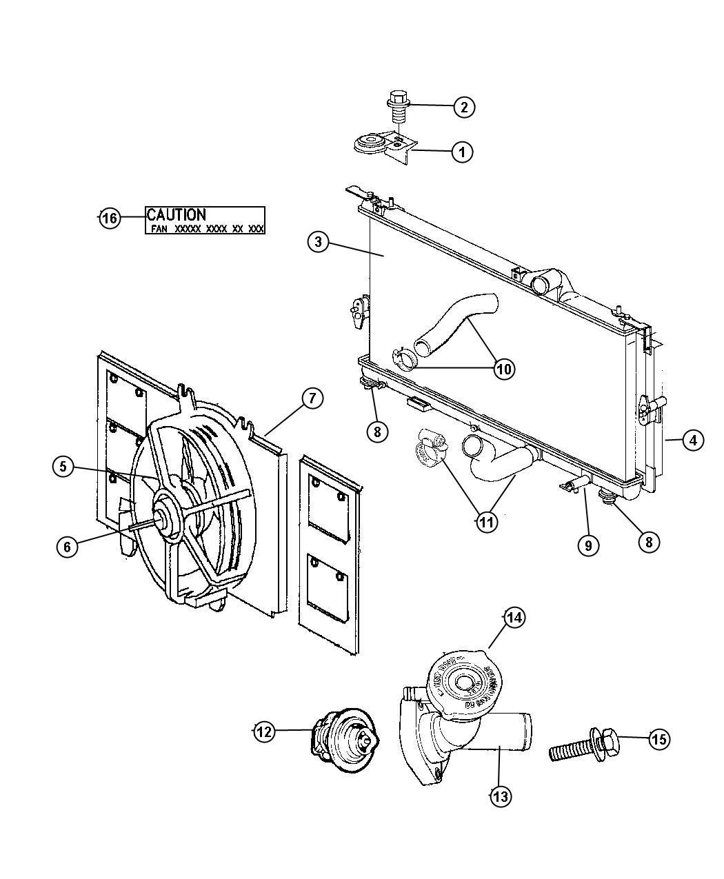 2007 Dodge Nitro Condenser  Air Conditioning  Plumbing  Related  Radiator