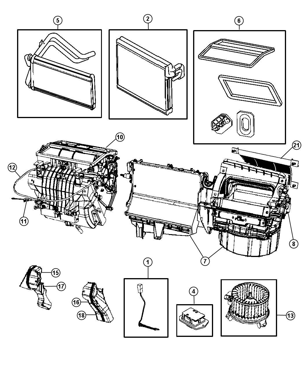 2007 dodge caliber housing blower motor air. Black Bedroom Furniture Sets. Home Design Ideas