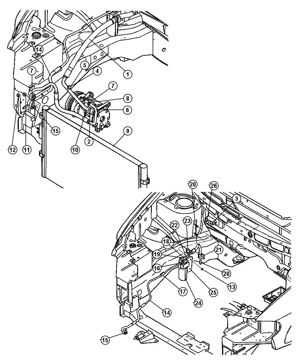 2006 Dodge Caravan Line  A  C Discharge  Air  Conditioning