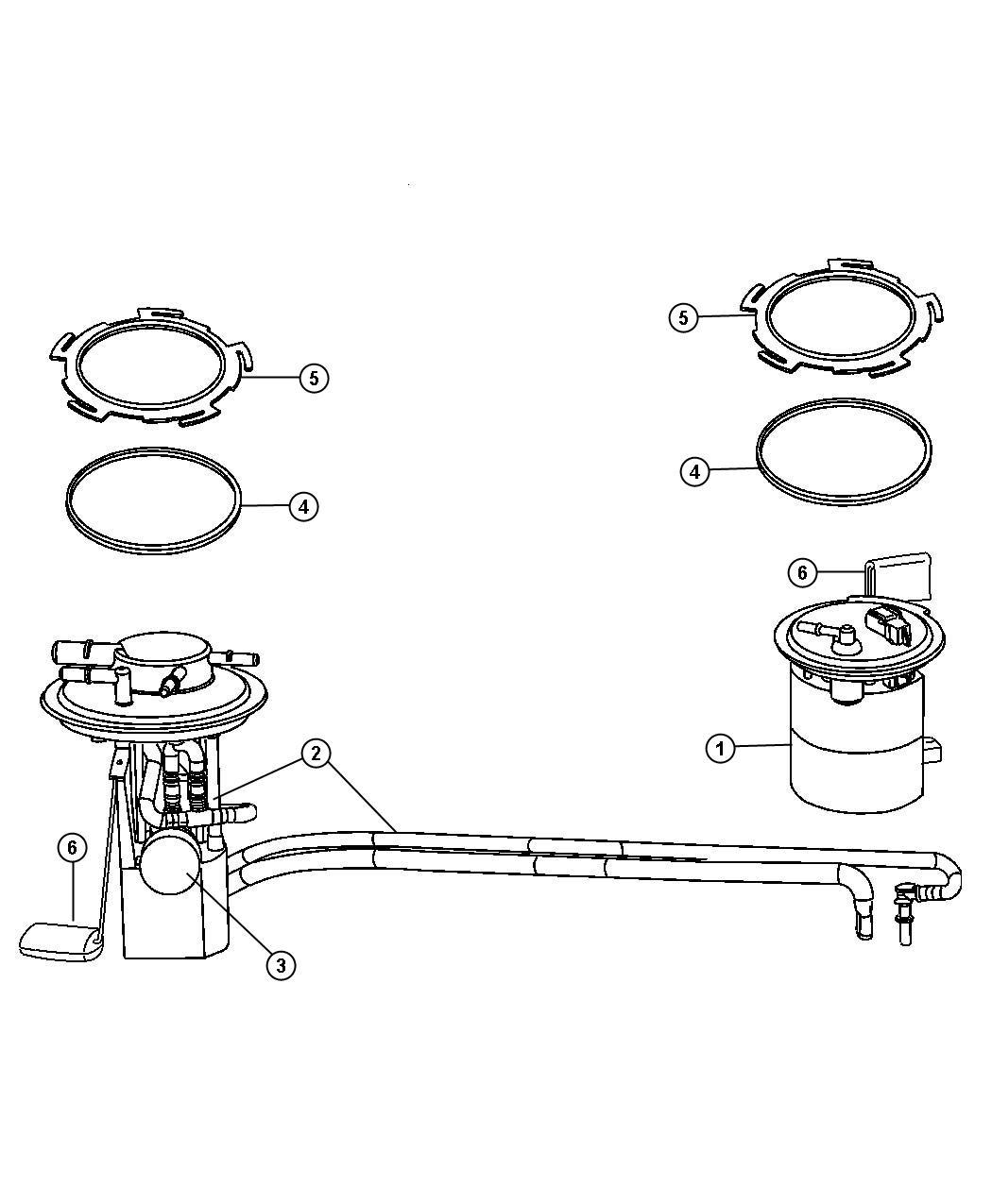 2007 Chrysler Pacifica Module kit. Fuel pump/level unit ...