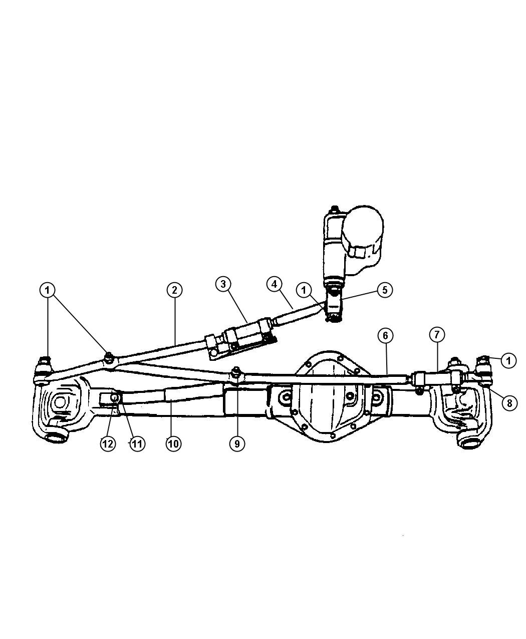 2007 Dodge Ram 2500 Damper  Steering  Up To 02  14  08  Up