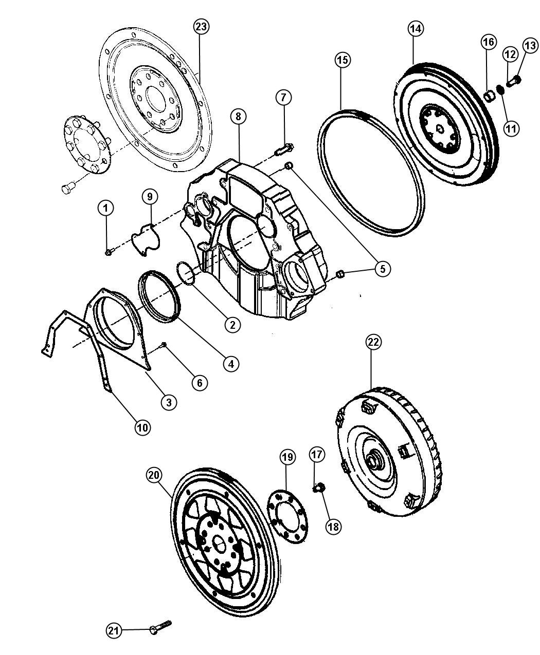 1999 dodge ram 2500 plate  torque converter drive