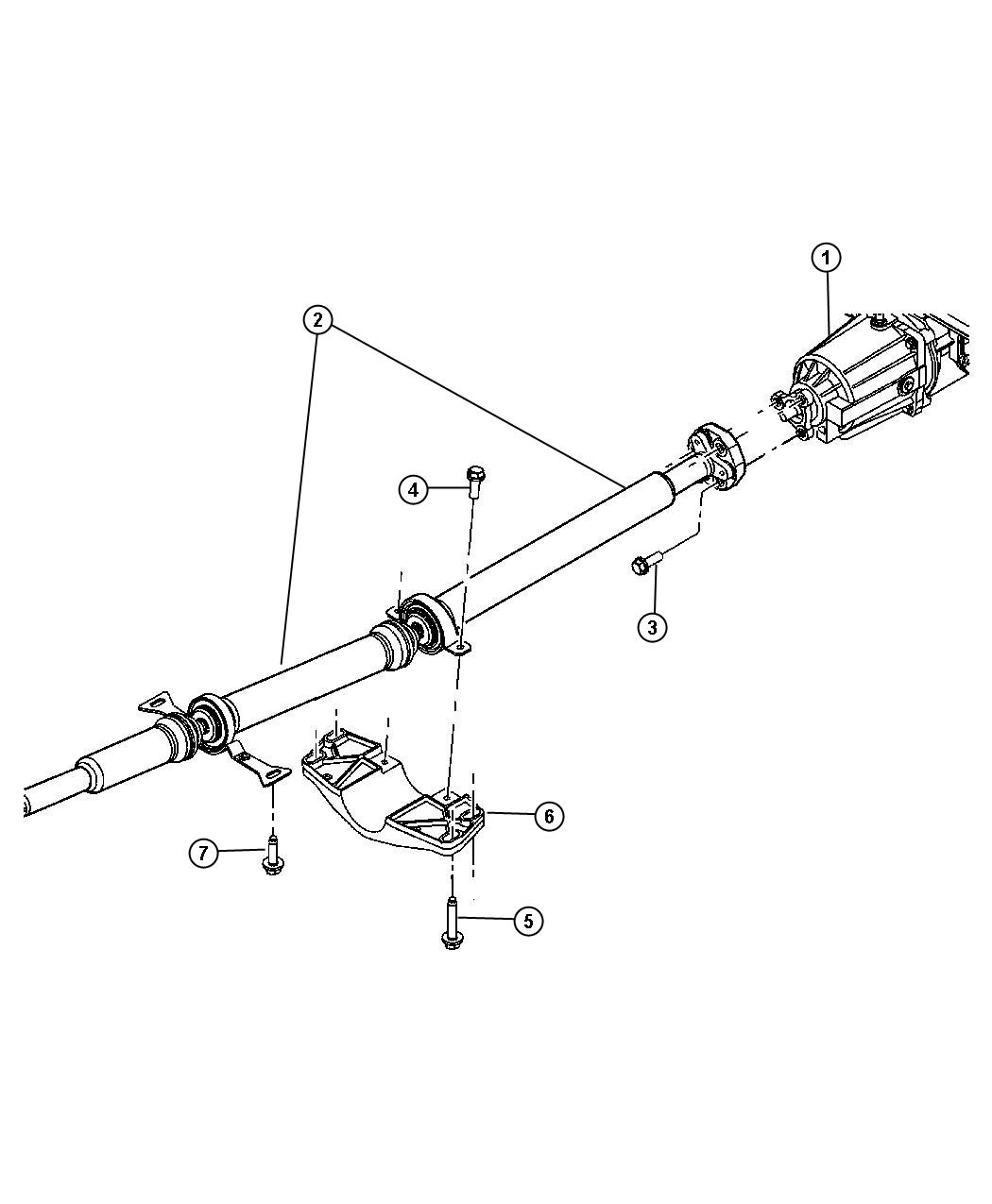 Chrysler Pacifica Shaft  Drive  Propeller  Driveline  Rear