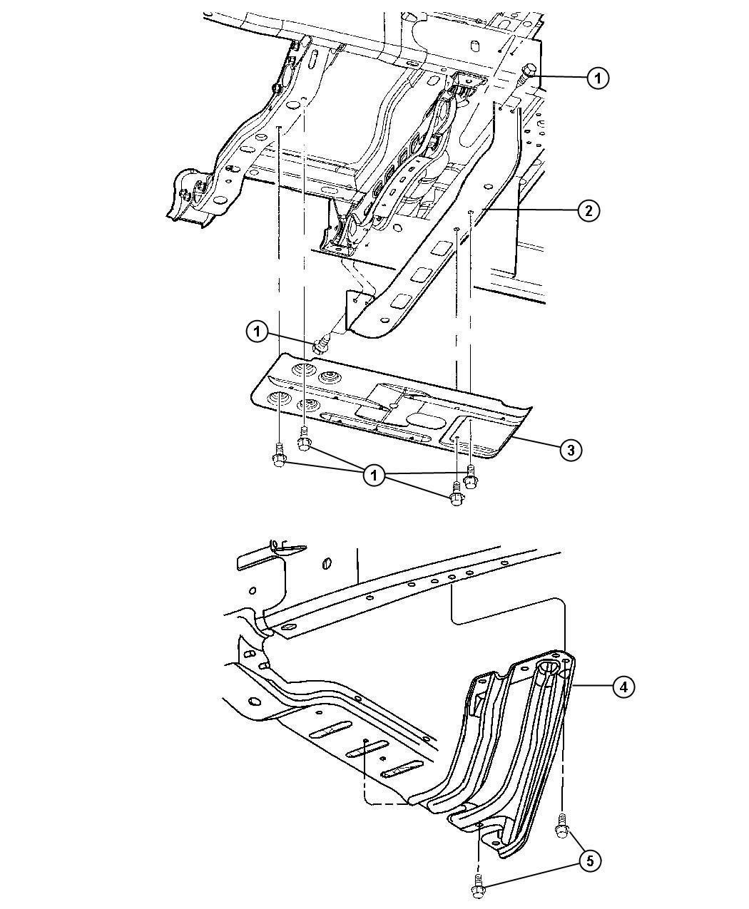 2012 dodge ram 1500 crossmember  mounting  skid plate