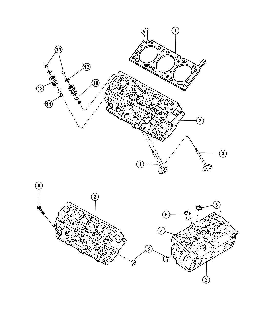 2010 jeep commander gasket  left  cylinder head  engine