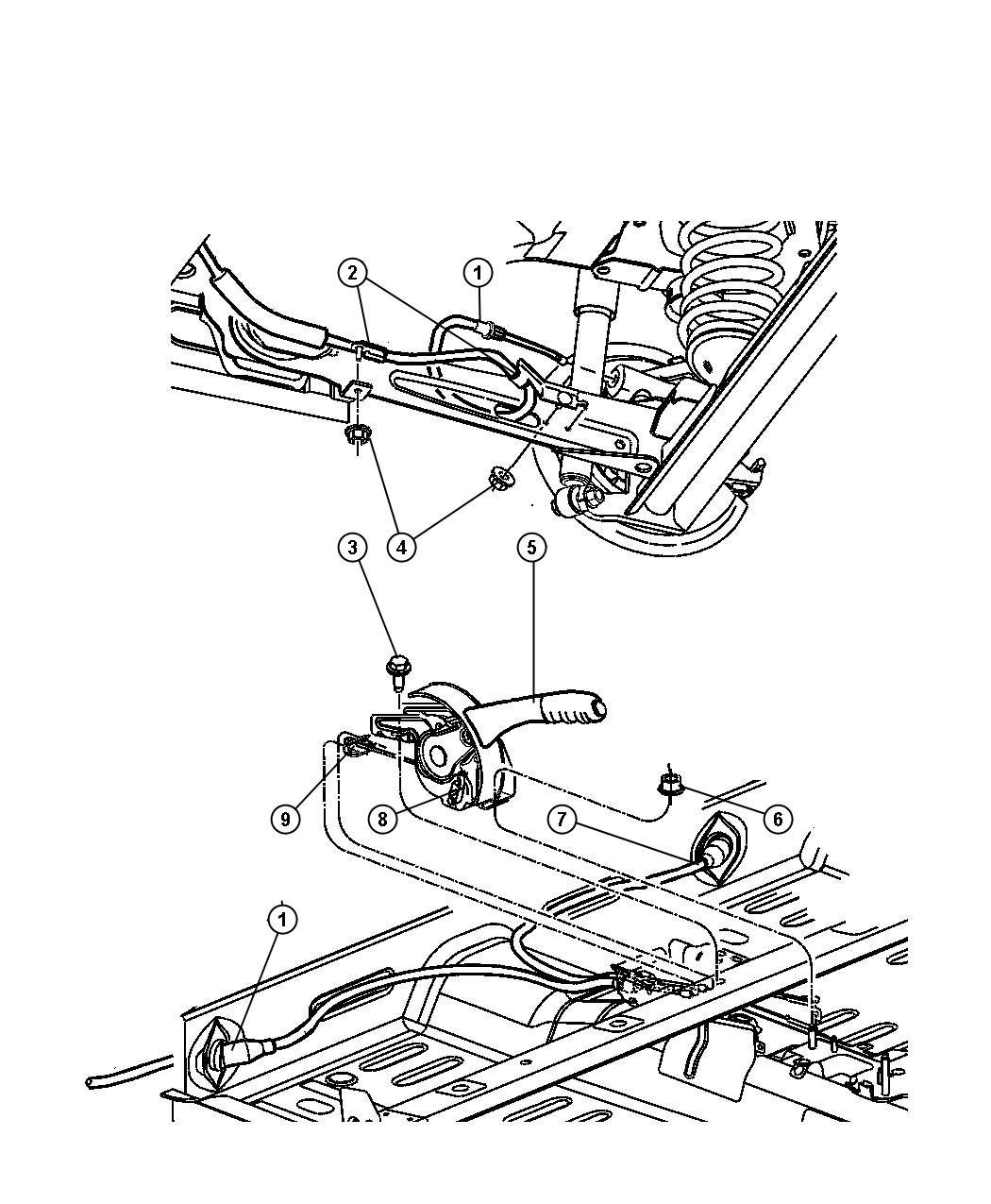 2009 chrysler pt cruiser lever  park brake  parking brake