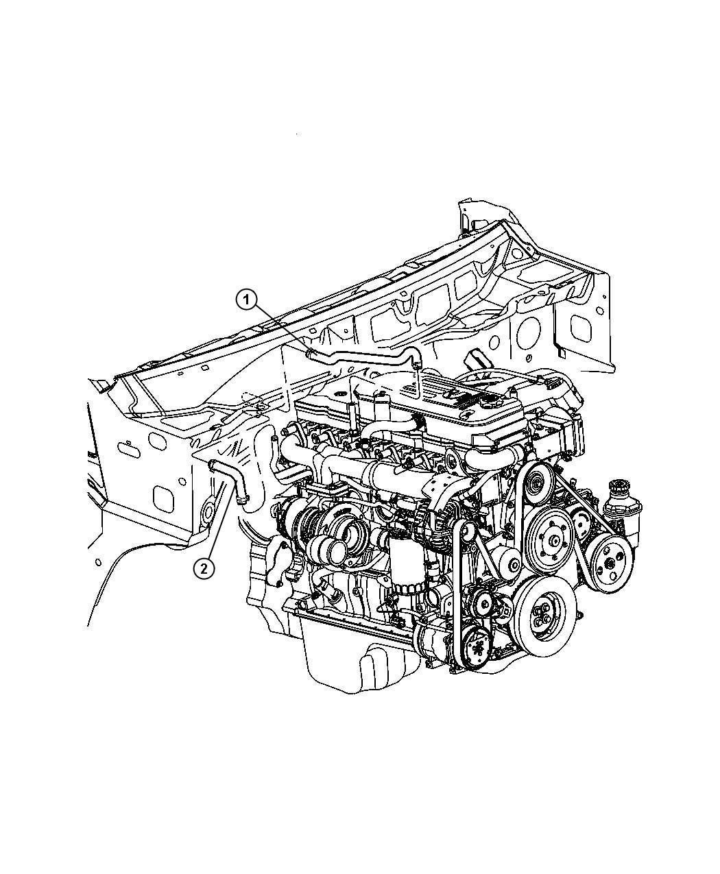 2007 Dodge Ram 3500 Hose  Heater  Heater Return  Plumbing