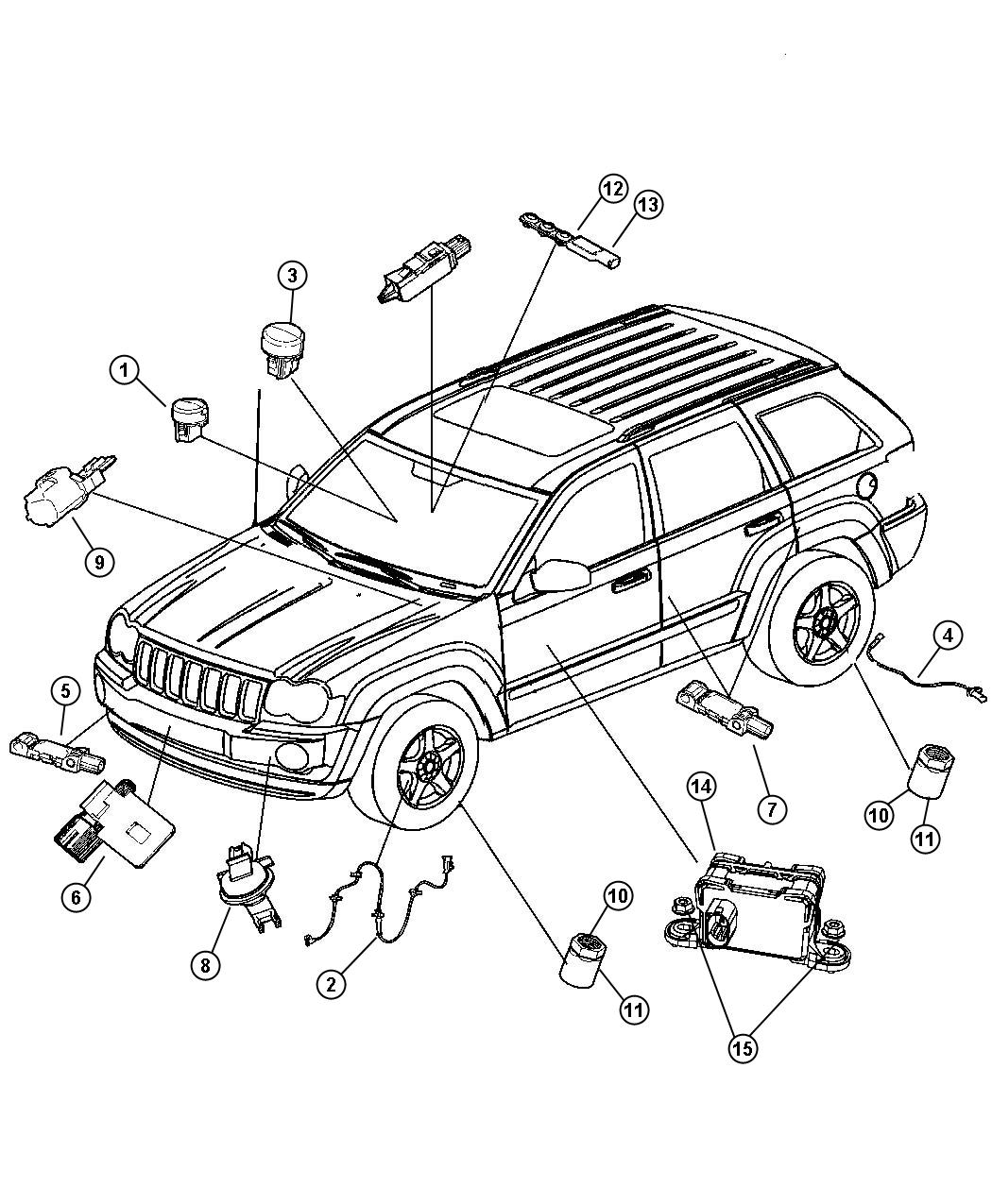 Jeep Grand Cherokee Sensor  Impact  Side Airbag Impact