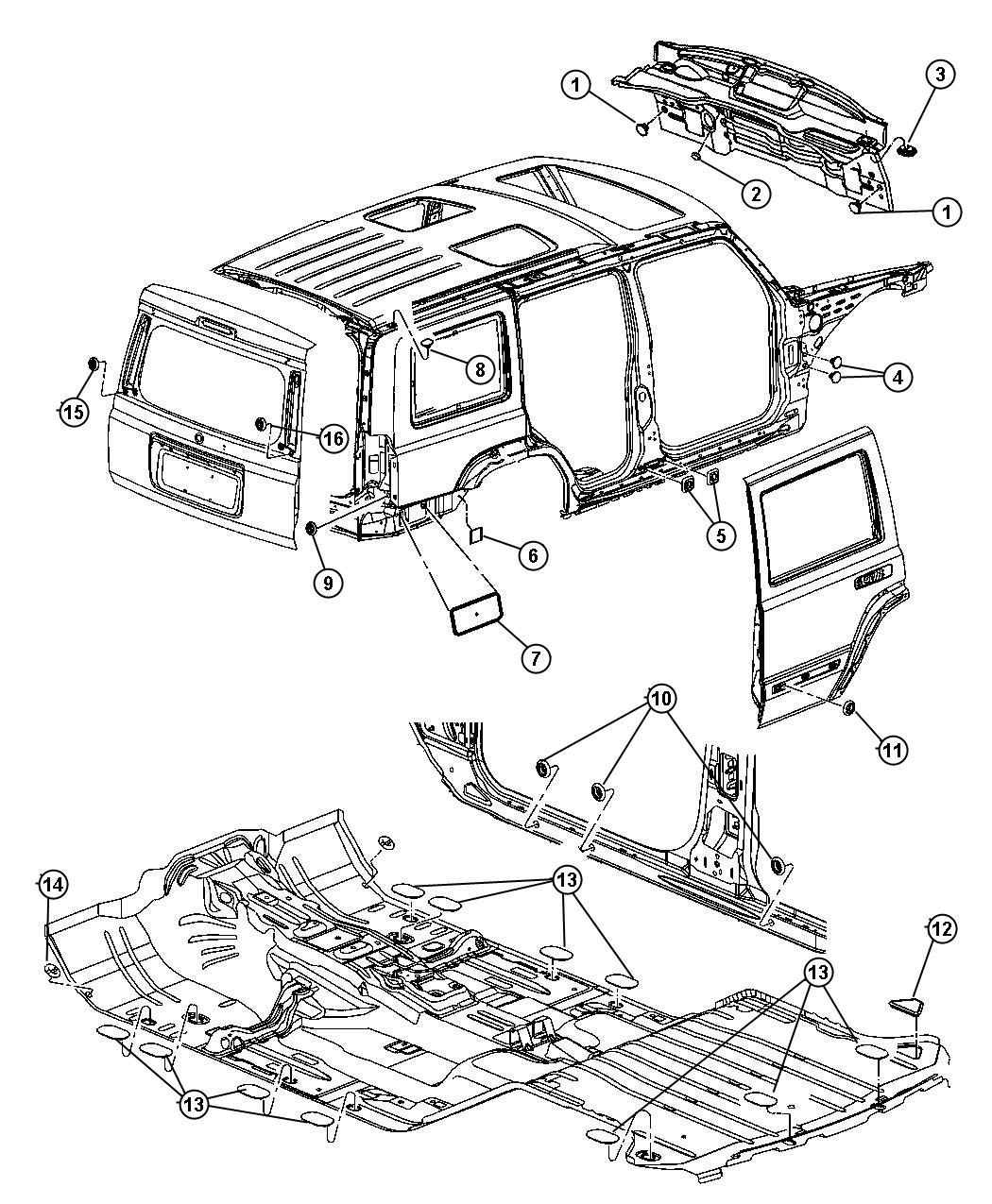 2006 Jeep Commander Plug  Body  Plugs
