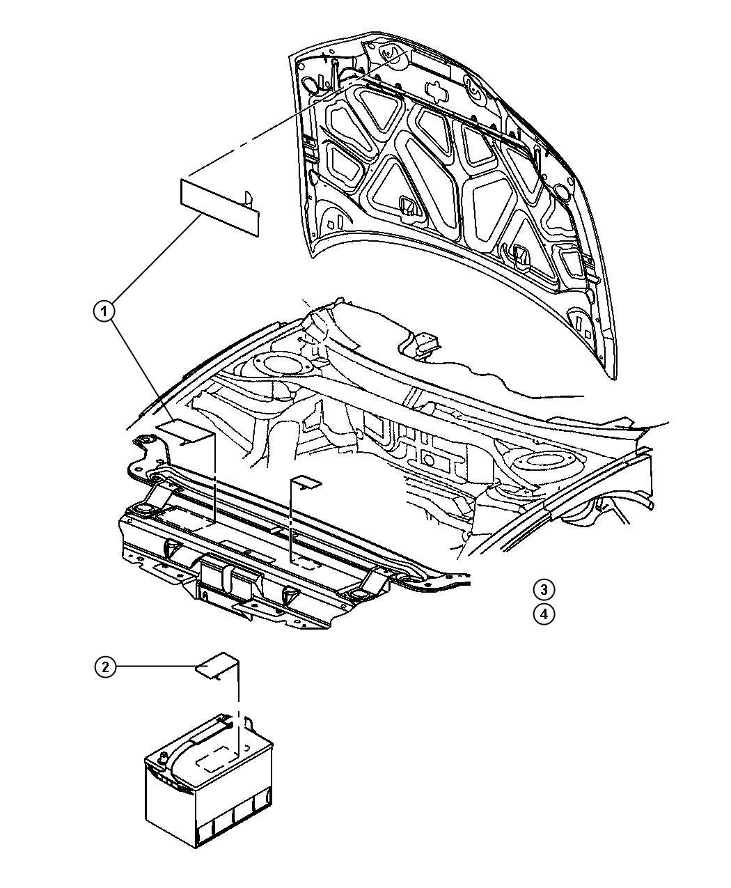 2007 Dodge Charger Label  Emission  Nas