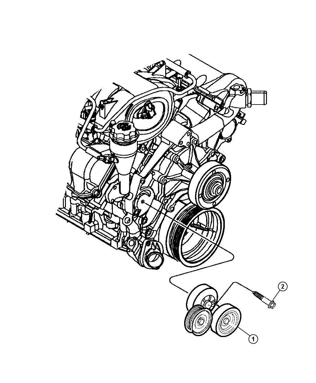Dodge Durango Tensioner  Belt   3 7l V6 Engine