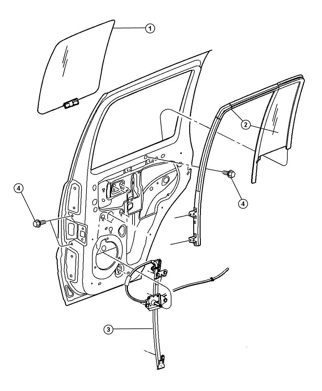 2011 dodge ram 4500 regulator  rear door window  after 2  25  2006  with  pwr windows  drvr and
