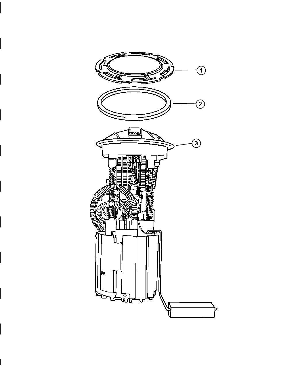 2007 Chrysler Aspen Module Package  Fuel Pump  Level Unit