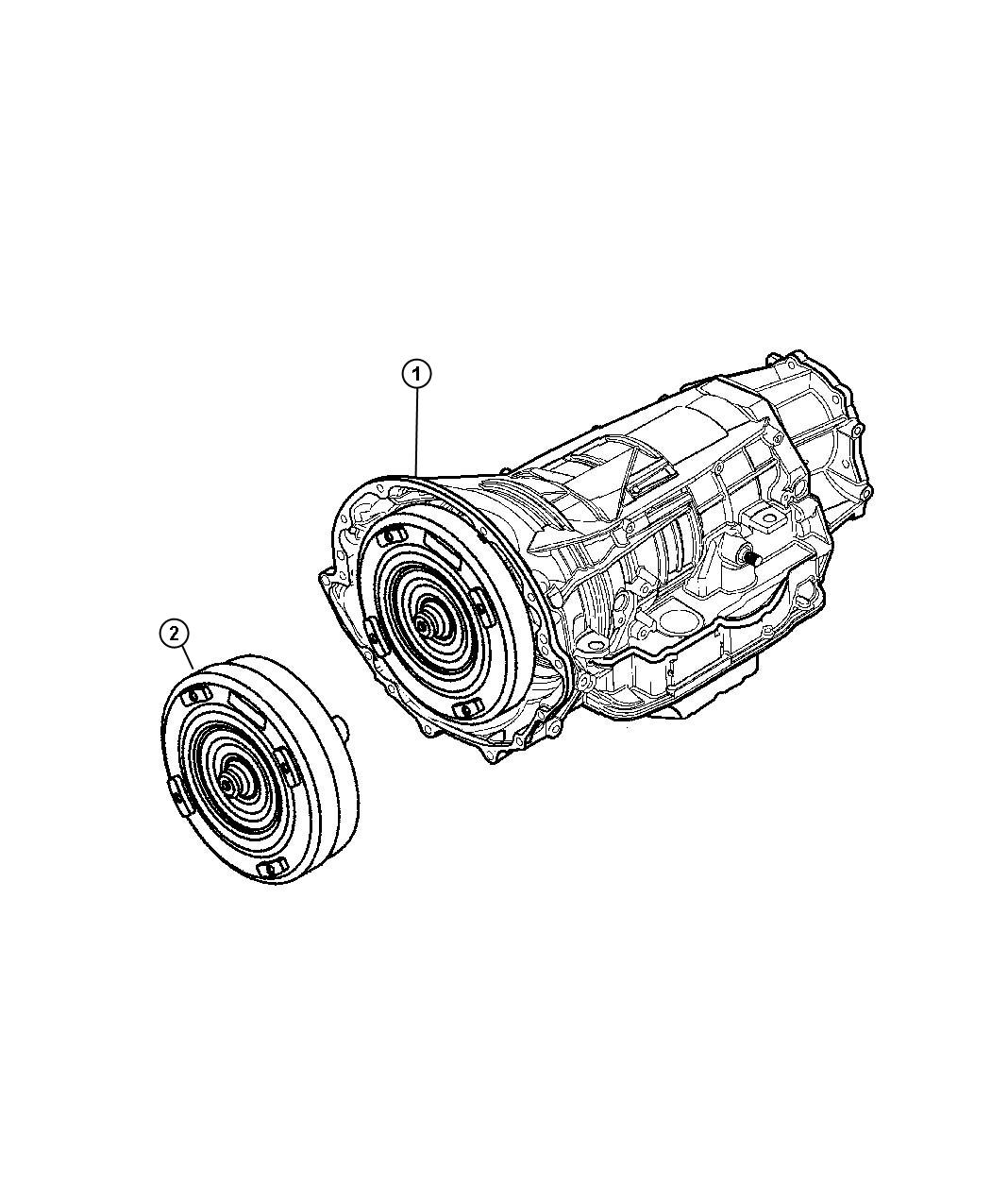 Jeep Commander Transmission Package  With Torque Converter