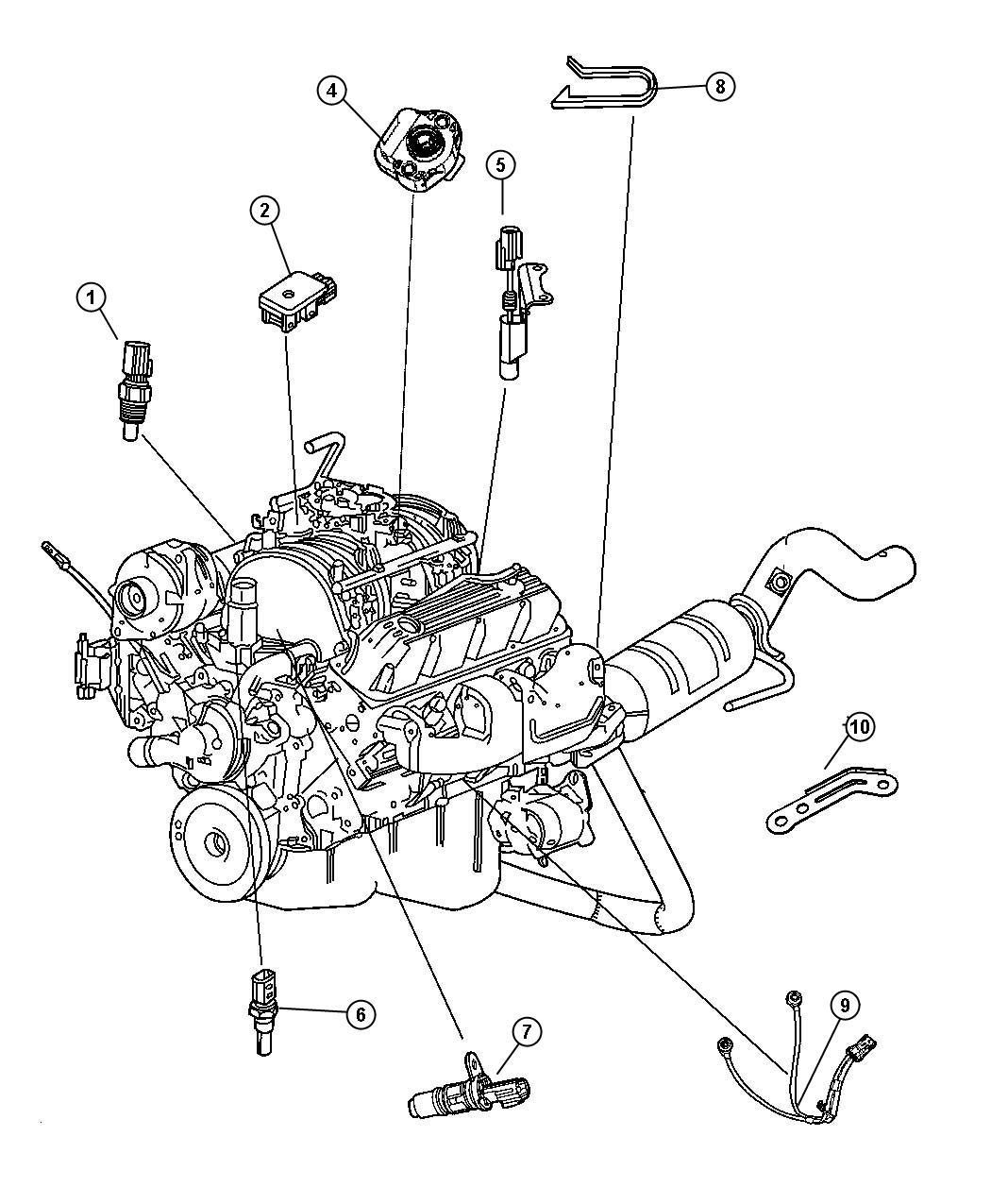 2007 Chrysler Aspen Sensor  Camshaft  Camshaft Position