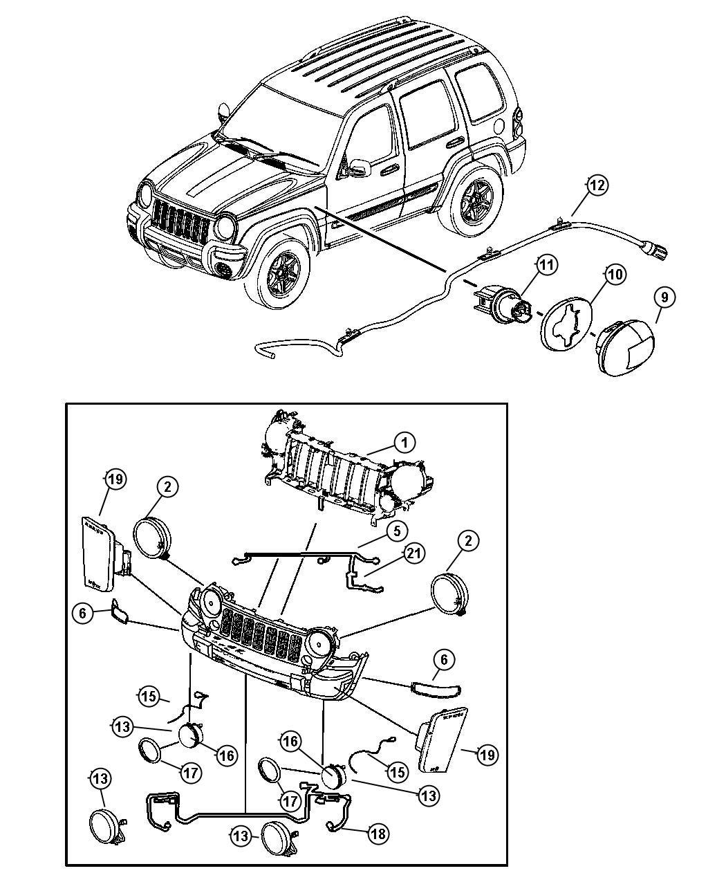 2006 Jeep Liberty Socket  Side Marker  Headlamp  Leveling