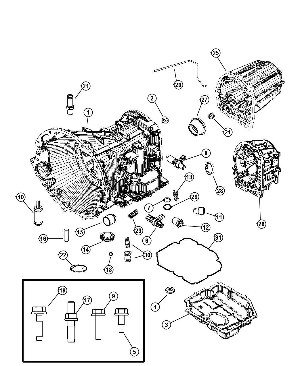 2007 Dodge Nitro Adapter  Transfer Case  Transmission  Extension  Block