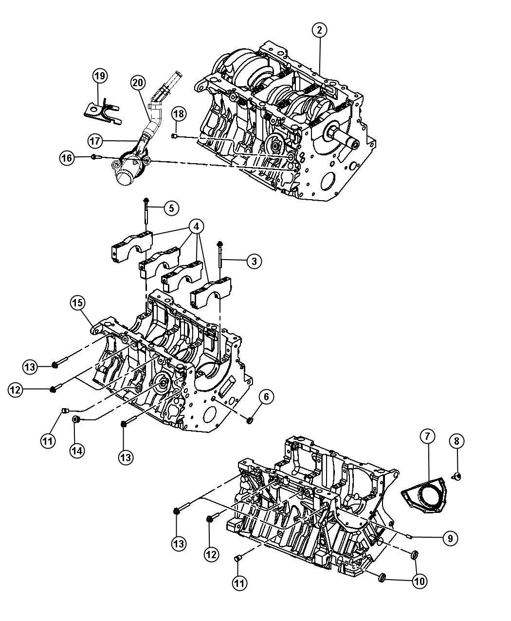 2007 Chrysler Sebring Engine  Long Block  Remanufactured