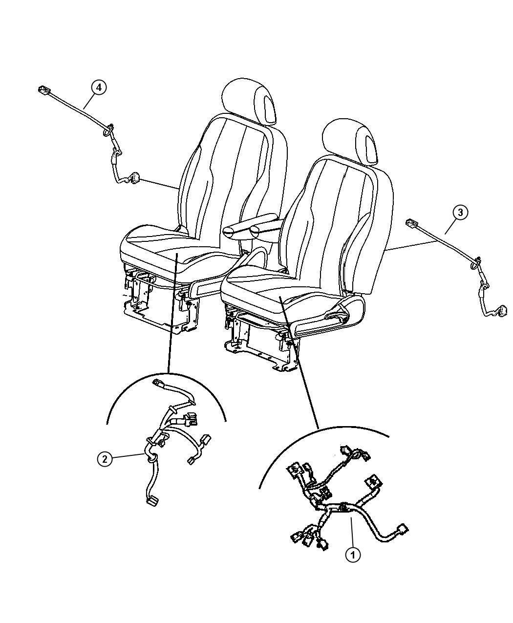 2007 Chrysler Pt Cruiser Wiring  Power Seat  Seat