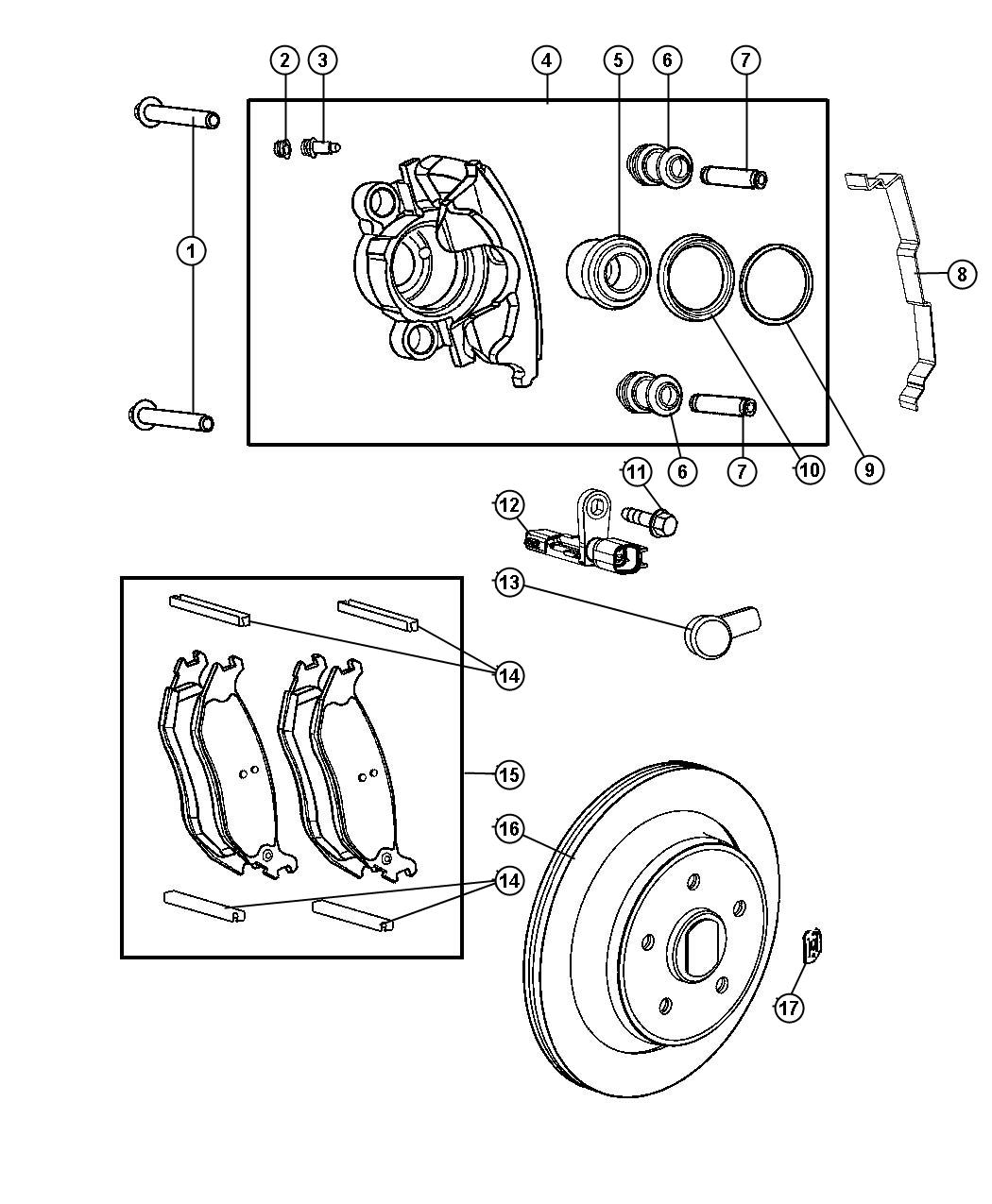 2009 jeep patriot caliper  left  disc brake  mopar reman