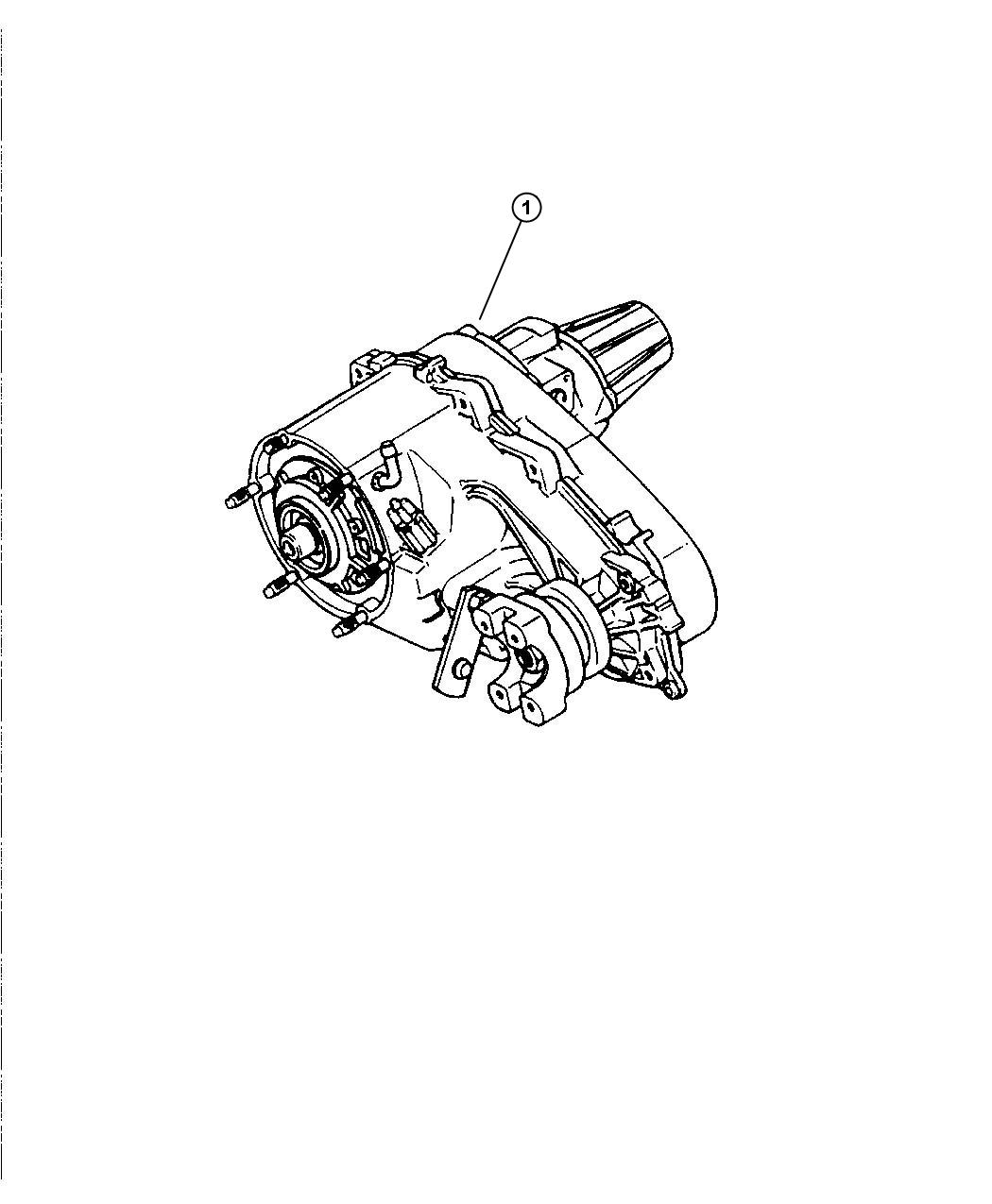 2007 Jeep Liberty Transfer Case  Np242  Relabel  Trac