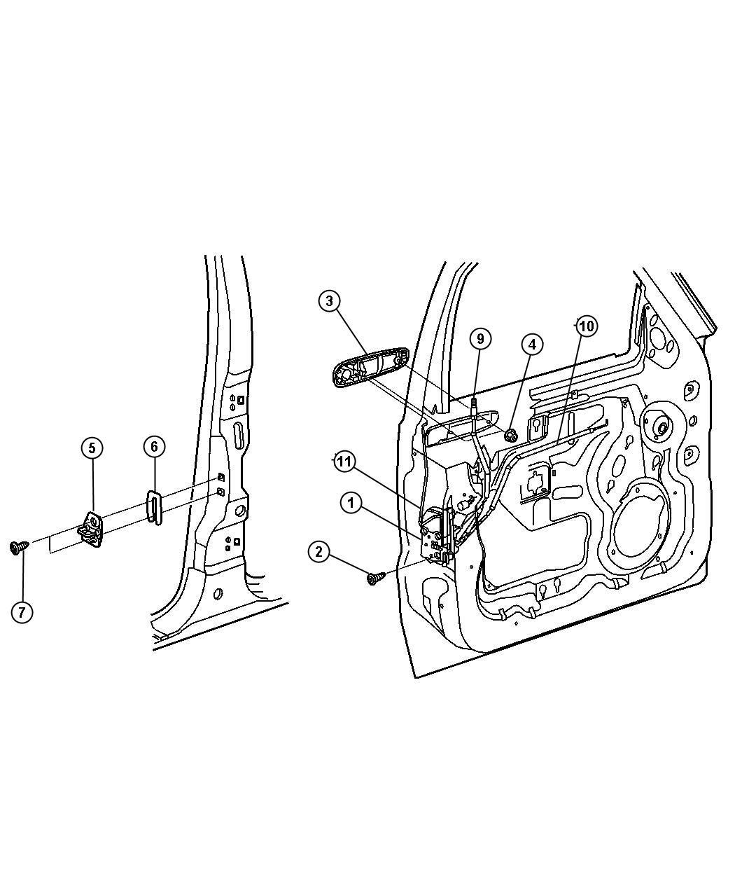 jeep liberty latch  front door   speed sensitive power