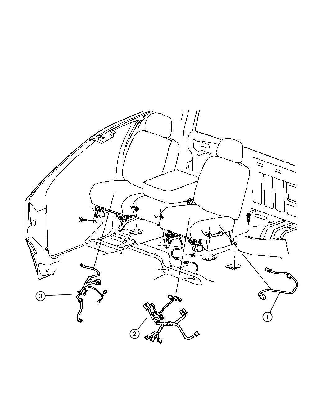 2007 Dodge Dakota Wiring  Power Seat  Seat   Heated Front