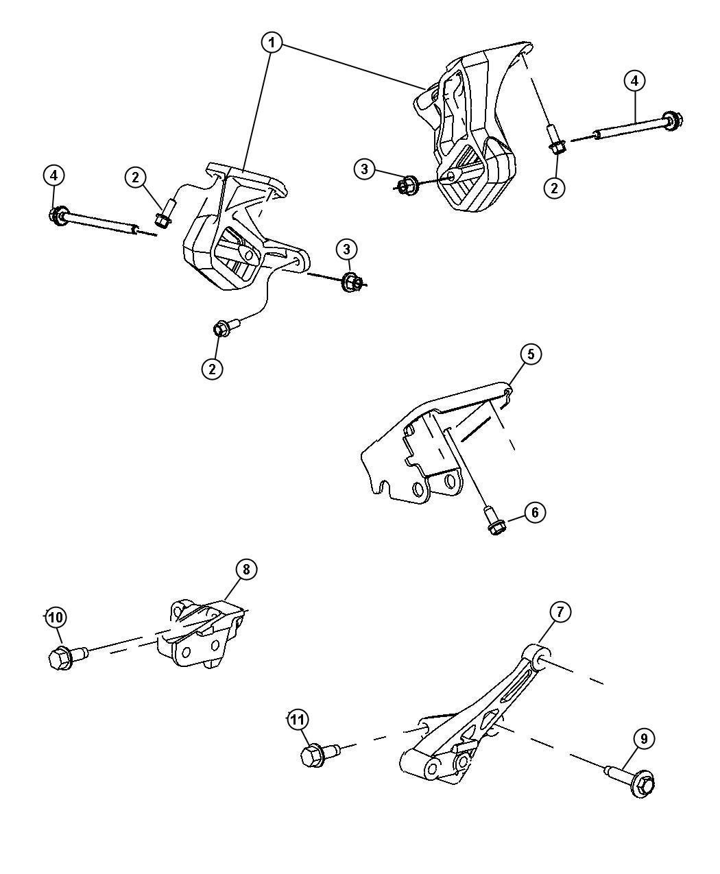 2001 dodge dakota bracket  transmission mount  engine