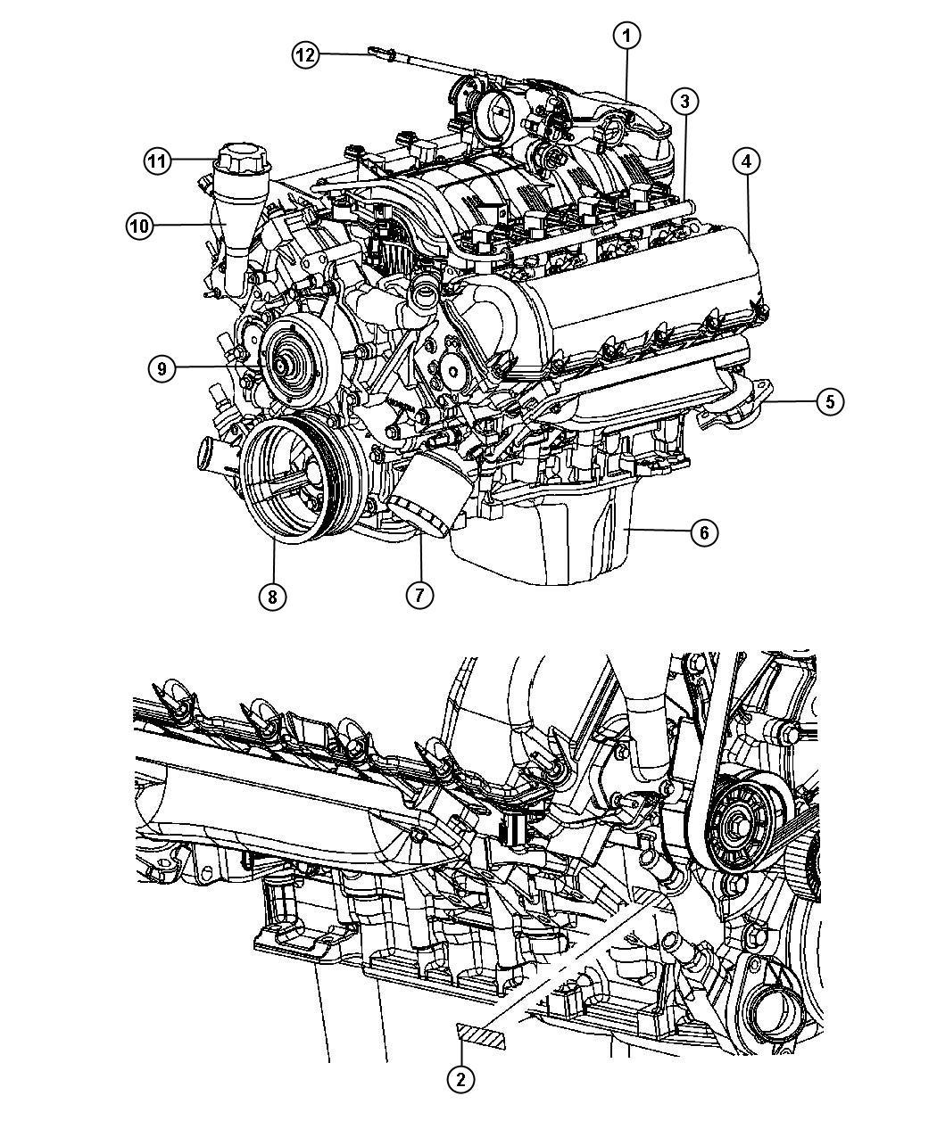 2007 Chrysler Aspen Cap  Oil Filler    3 7l V6 Engine Or